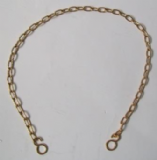 Gold Effect Metal Replacement Bath Plug Chain Link - 74000060